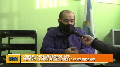 Photo of Redacción Noticias |  Concejal Cristian Mercado: «Tenemos altas expectativas de tener la carta orgánica para Las Heras»