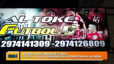Photo of Redacción Noticias |  Julio Demedero – Reapertura de canchas de fútbol 5 en Las Heras