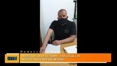 Photo of Redacción Noticias |  Conferencia del COE – Tenemos el primer internado en terapia intensiva por Covid-19 en Las Heras