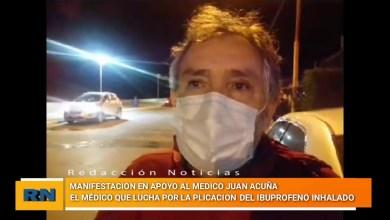 Photo of Redacción Noticias |  Manifestacion en Caleta Olivia en apoyo al medico Juan Acuña