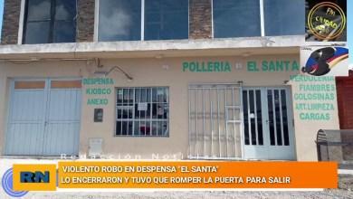 Photo of Redacción Noticias    Violento robo en despensa «El Santa» – Lo encerraron y tuvo que romper la puerta para salir