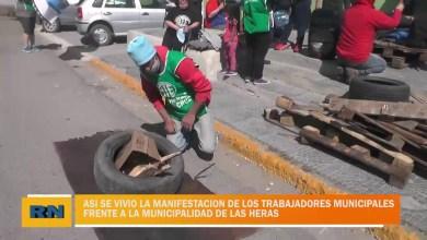 Photo of Redacción Noticias |  Se intensifica el reclamo de los trabajadores municipal frente a la municipalidad de Las Heras