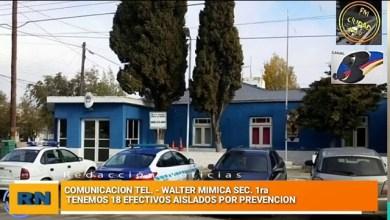 Photo of Redacción Noticias |  Comisario Mimica: «Tenemos a 18 agentes aislados policiales por prevención»
