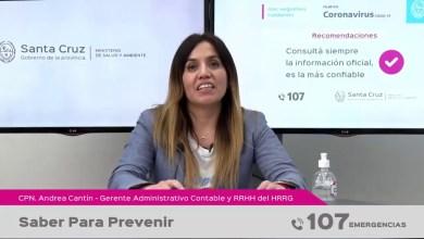 Photo of Redacción Noticias |  PARTE DE SALUD PROVINCIAL (Covid-19) – Saber para prevenir