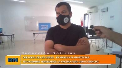 Photo of Redacción Noticias |  El COE de Las Heras organiza implementar el plan «Detectar» en nuestra localidad