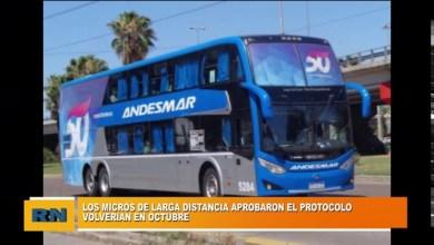 Photo of Redacción Noticias |  Se aprobó el protocolo para que micros de larga distancia vuelvan en Octubre