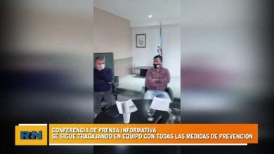 Photo of Redacción Noticias |  Conferencia de prensa del COE de Las Heras Santa Cruz PARTE 1