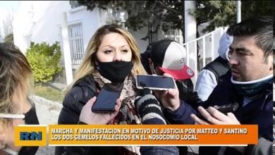 Photo of Redacción Noticias |  Marcha y manifestación de Las Heras frente al Hospital por el fallecimiento de los gemelos