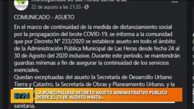 Photo of Redacción Noticias |  La Municipalidad de Las Heras dio a conocer el nuevo asueto administrativo
