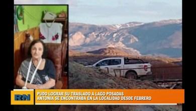 Photo of Redacción Noticias |  Antonia se encontraba barada en Las Heras desde Febrero y esta semana pudo regresar a Lago Posadas