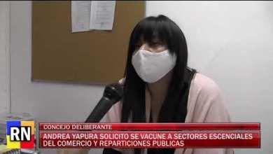 Photo of Redacción Noticias    Andrea Yapura solicito la vacunacion para sectores esenciales del comercio y reparticiones publicas