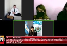Photo of Redacción Noticias |  La Concejal Yapura aclara la situacion sobre la vuelta de la edil Alonso – Las Heras Santa Cruz