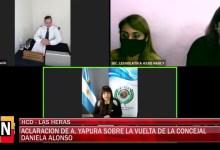 Photo of Redacción Noticias    La Concejal Yapura aclara la situacion sobre la vuelta de la edil Alonso – Las Heras Santa Cruz