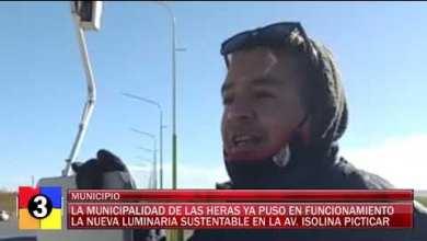 Photo of Redacción Noticias |  NUEVA LUMINARIA PARA LAS HERAS – LAS HERAS SANTA CRUZ