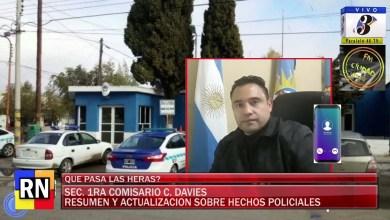 Photo of Redacción Noticias    El comisario Davies nos actualiza sobre los hechos delictivos en la localidad