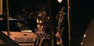 Policía local en un botellón en Burgos (Imagen TV)