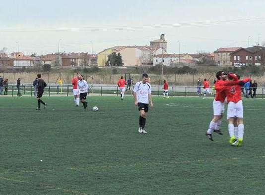 El Real Burgos celebra el segundo gol