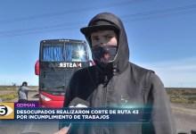 Photo of 5VN Cinco Visión Noticias |  Desocupados realizaron corte de ruta 43 por incumplimiento de trabajo
