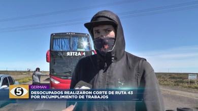 Photo of 5VN Cinco Visión Noticias    Desocupados realizaron corte de ruta 43 por incumplimiento de trabajo