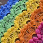 Punto abanicos de ensueño tejido a crochet