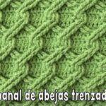 Punto panal de abejas 3D trenzado tejido a crochet