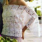 Blusa Jersey calado tejido a crochet
