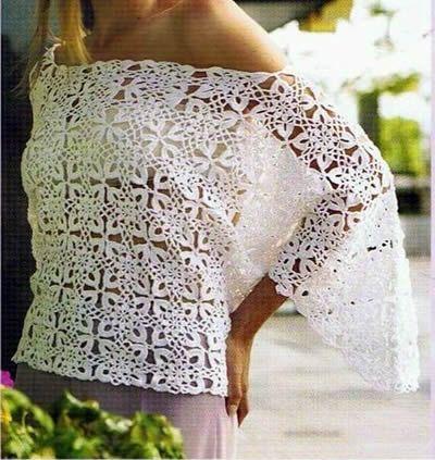 562f18be2 Blusa Jersey calado tejido a crochet - Canal Crochet