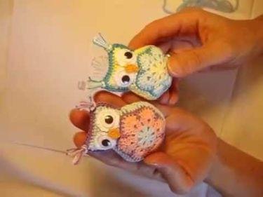 Como hacer un búho llavero en amigurimi - Marina Creativa | 281x375
