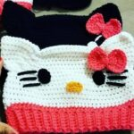 DIY Gorro Hello Kitty a Crochet