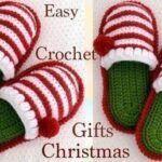 Pantuflas a crochet Navidad para todos