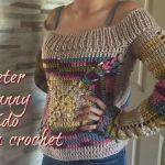 Suéter Para mujer Tejido a Crochet