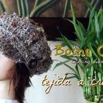Boina caída tejida a crochet