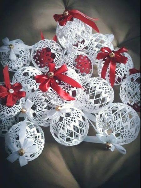 DIY Bolas adornos para navidad