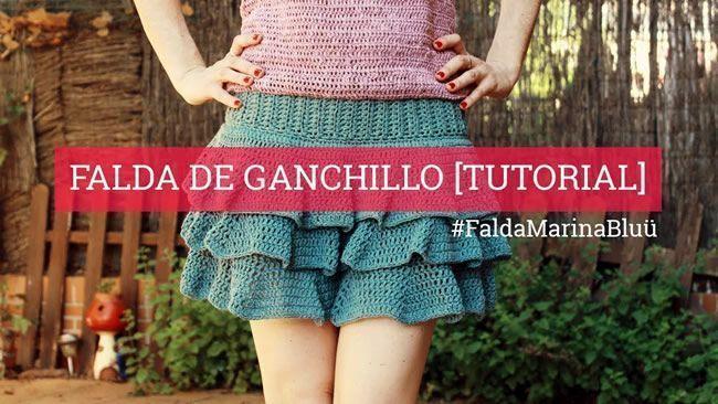 DIY Falda de ganchillo crochet
