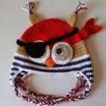 Gorro búho pirata a crochet