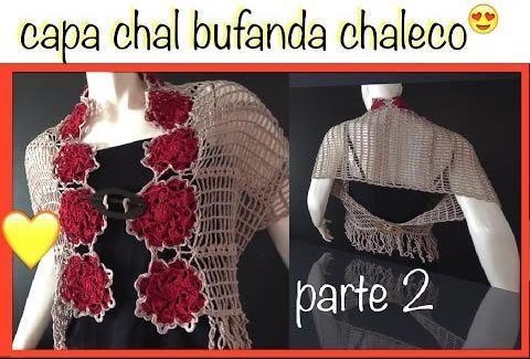 Chal Capa Bufanda con motivos de flor