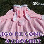 Abrigo a crochet de conejita para Niñas