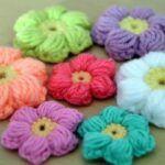 Flores puff a crochet
