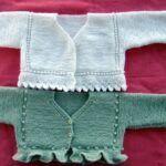 Chaqueta corta de bebé punto dos agujas