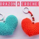 DIY Llavero corazón tejido a crochet
