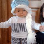 Peluca de lana de Elsa de Frozen