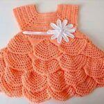DIY vestido tejido a crochet para bebé