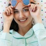 Gafas para dormir tejidas a crochet