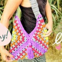 Bolso Granny sencillo a crochet