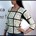 Blusa tejida a crochet o ganchillo con granny squares