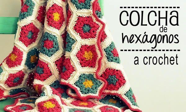 Colcha de Hexágonos a Crochet