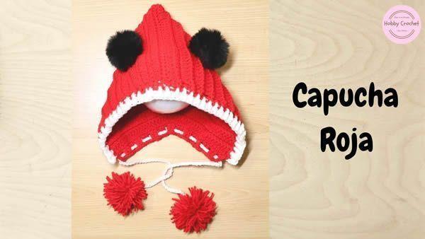 Capucha roja a crochet paso a paso