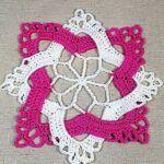 Cuadrado entrelazado a crochet