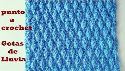 Punto gotas de agua a crochet