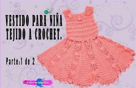 DIY Vestido para niña tejido a crochet